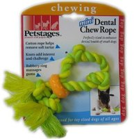Petstages (Петстейджес) Mini Dental Chew Rope - Канат с кольцом - Игрушка для собак